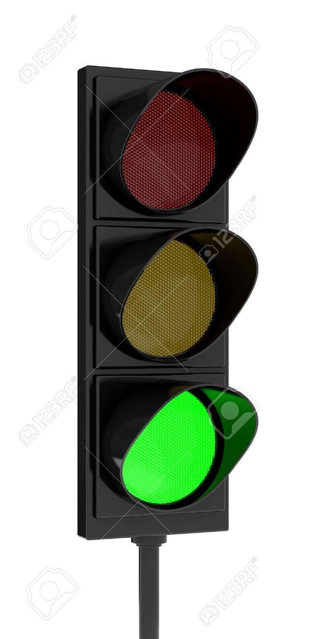 3d rendering traffic light on white background Stock Photo - 8503839