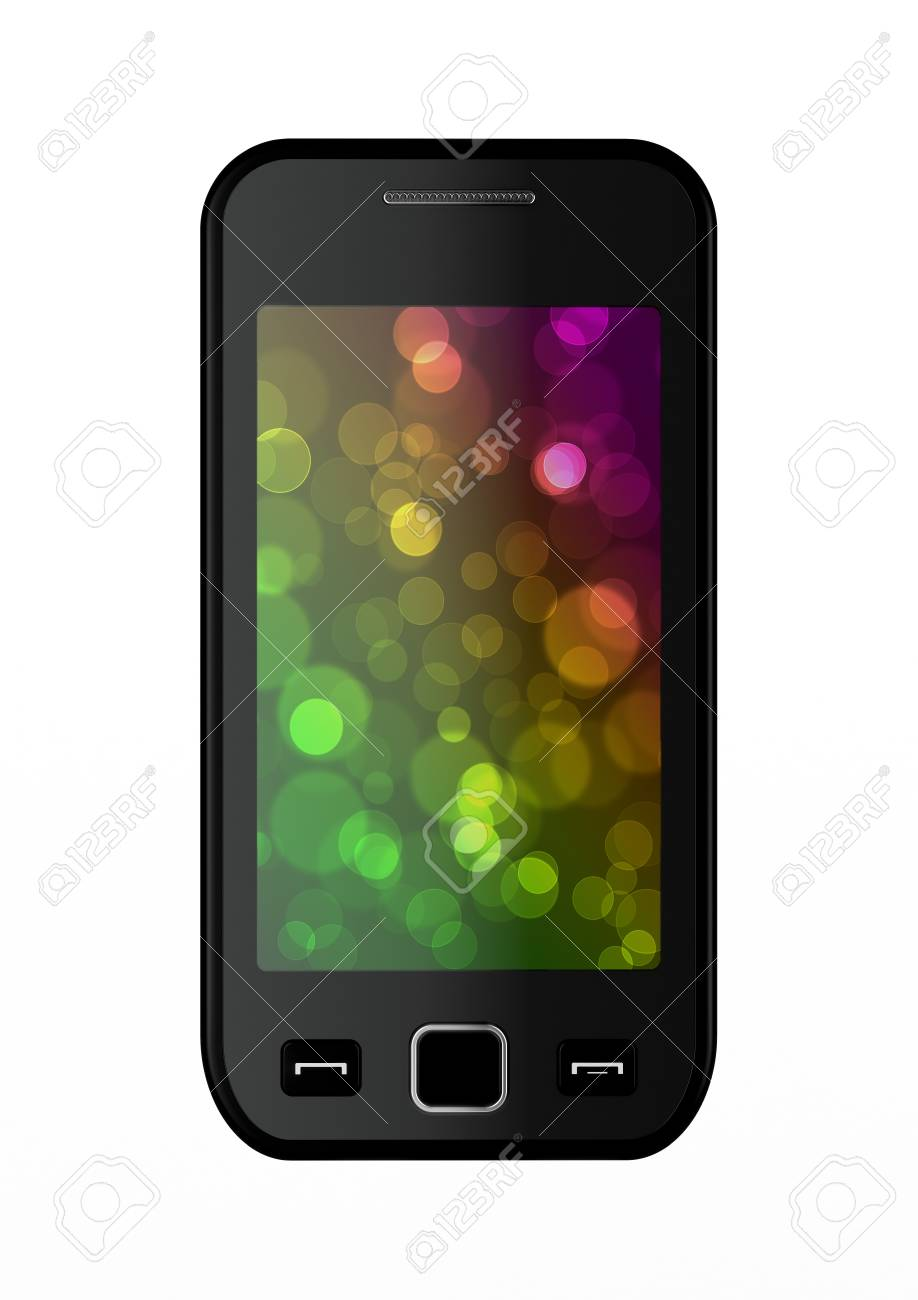 3d render of smart phone on white background Stock Photo - 9091922