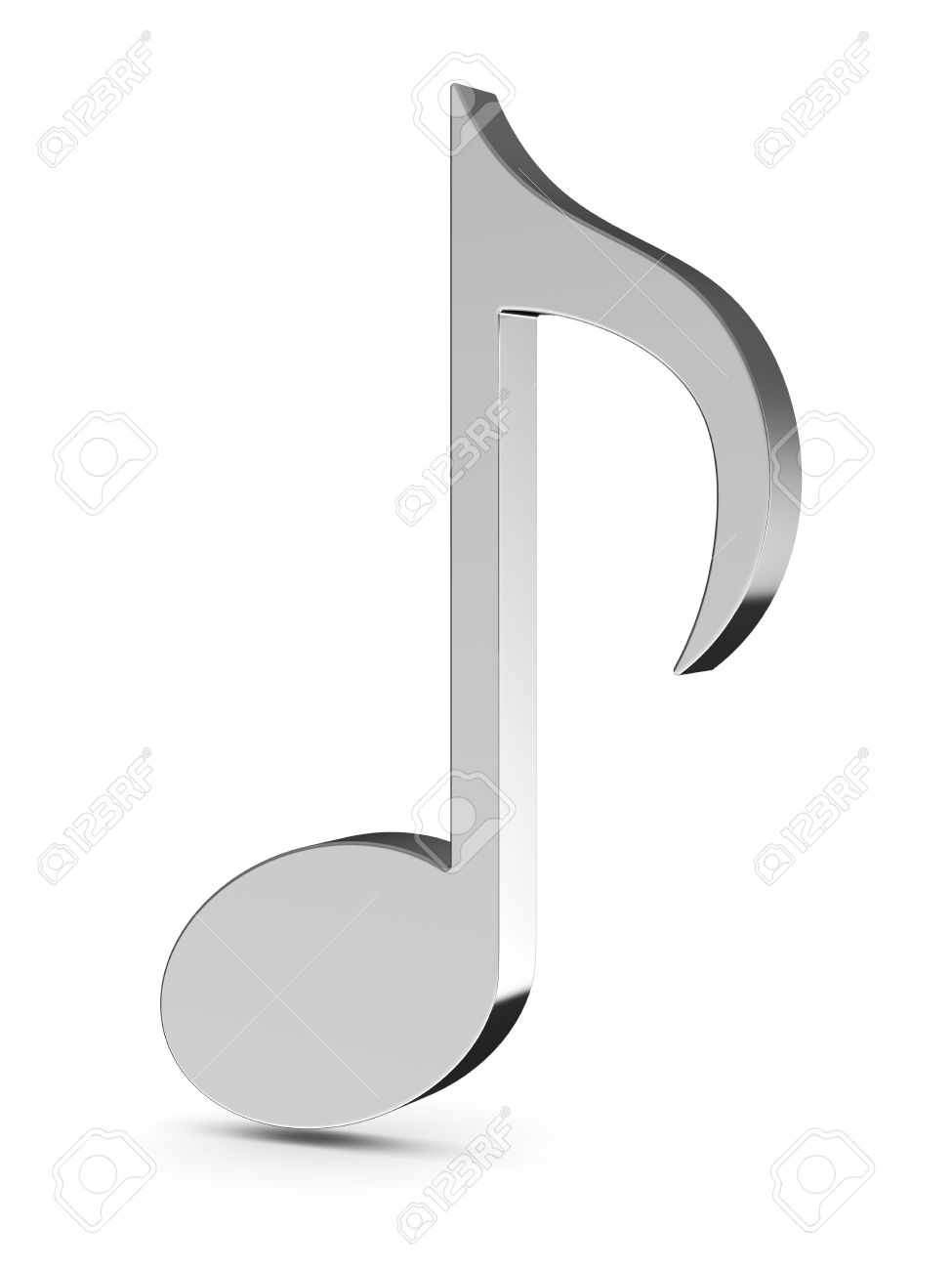 3d render of music note isolated on white background Stock Photo - 13911305
