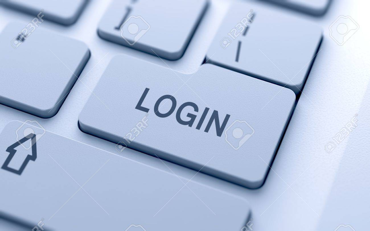 Login button on keyboard with soft focus Stock Photo - 14747331