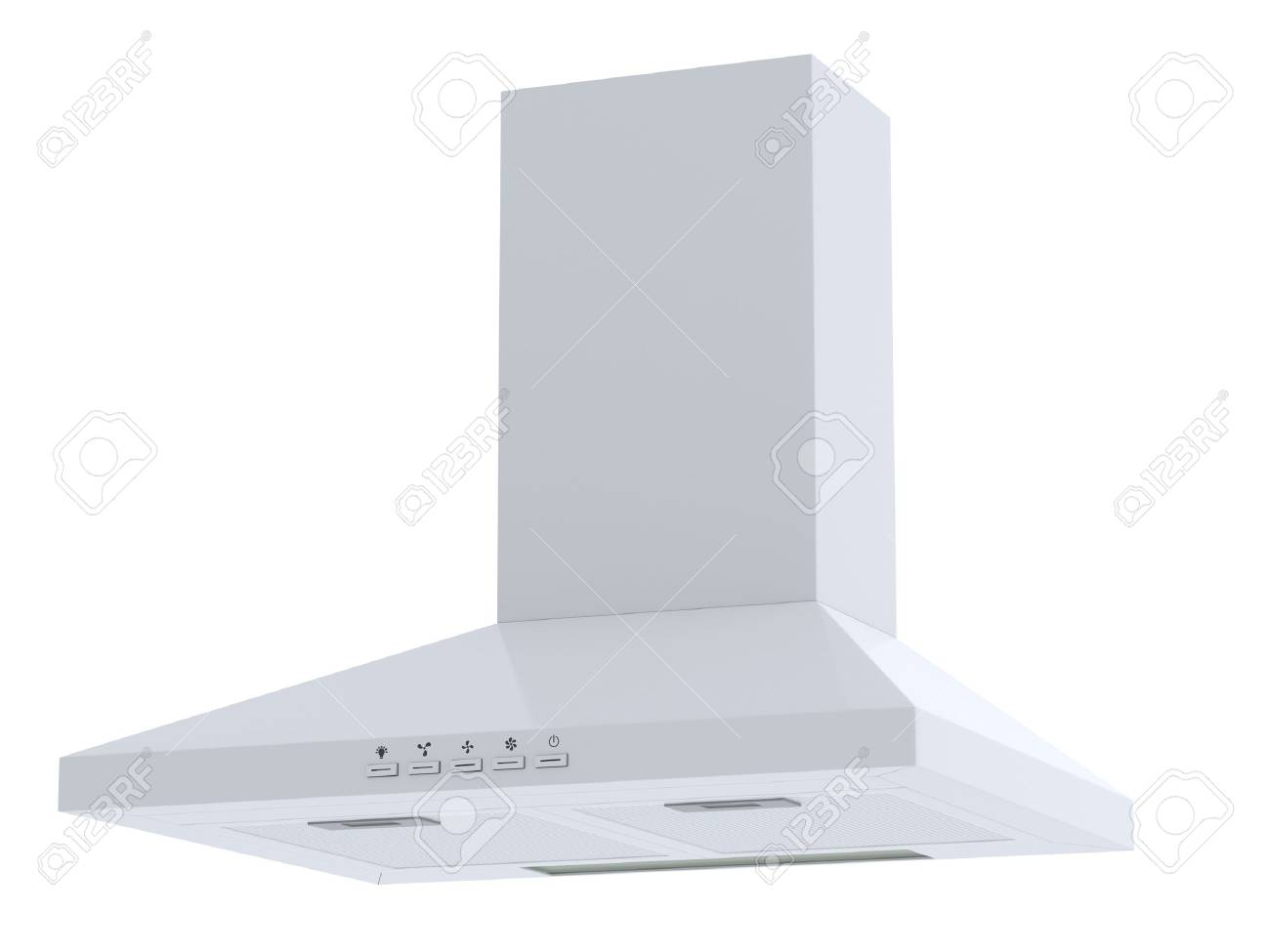 3d render of white hood. Isolated Stock Photo - 21702758