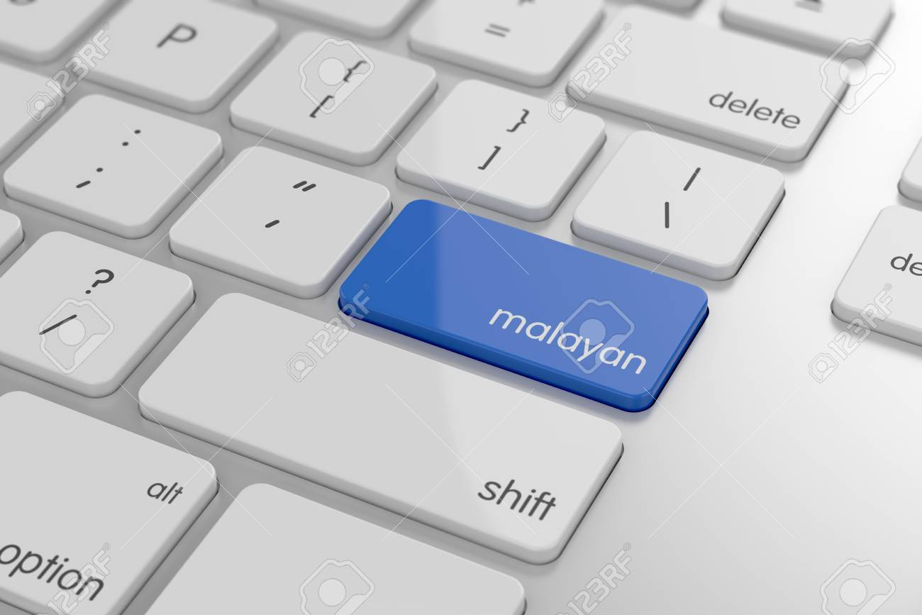 Malayan translation button on keyboard with soft focus Stock Photo - 22015898