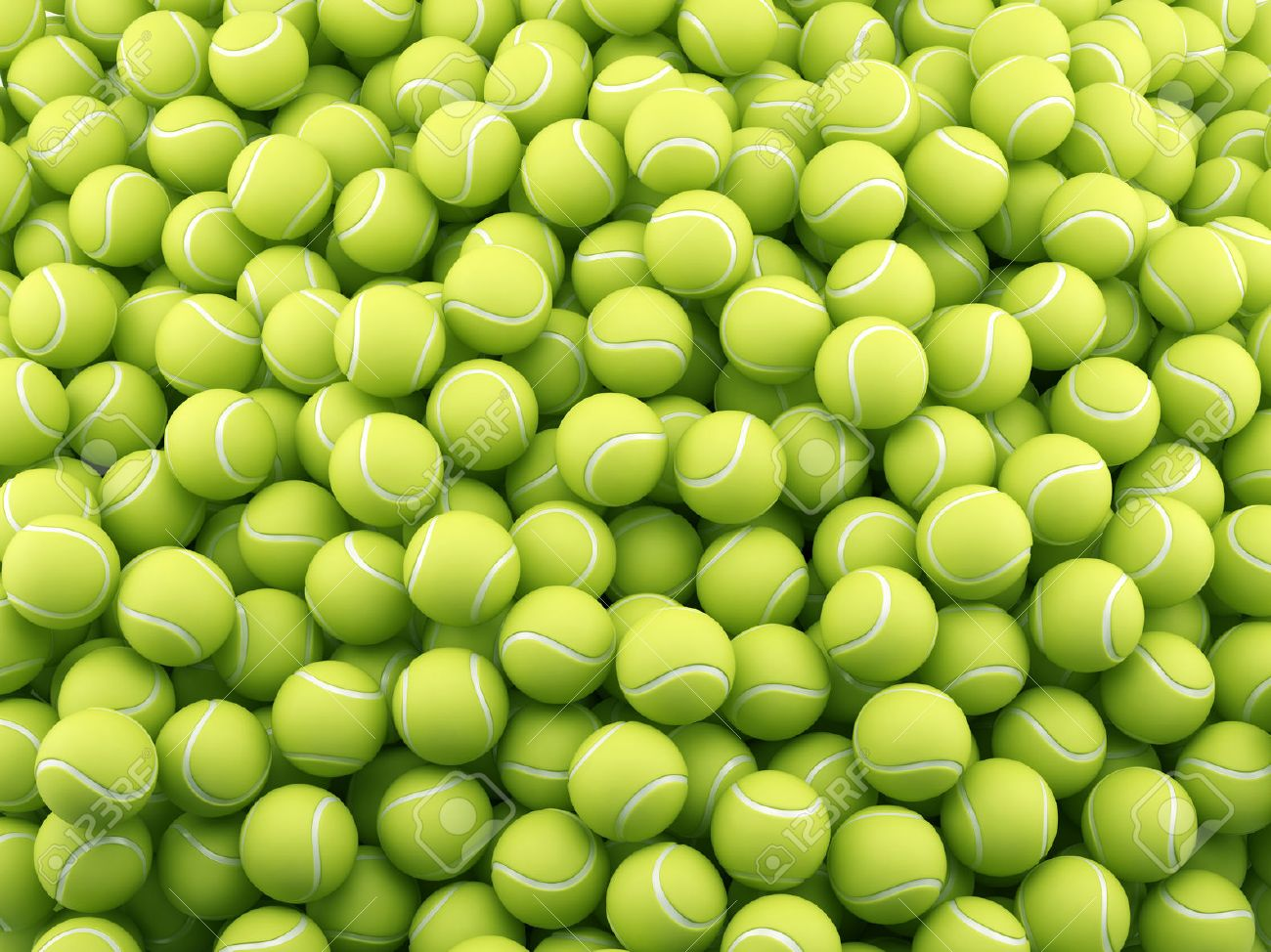 3d Render Of Tennis Ball Background Sport Concept Stock Photo