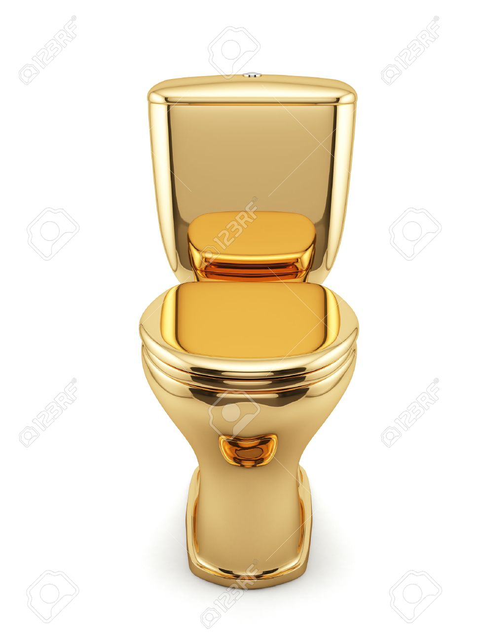 gold toilet. 3d render of golden toilet bowl isolated on white background Stock Photo  26575460 Render Of Golden Toilet Bowl Isolated On White Background