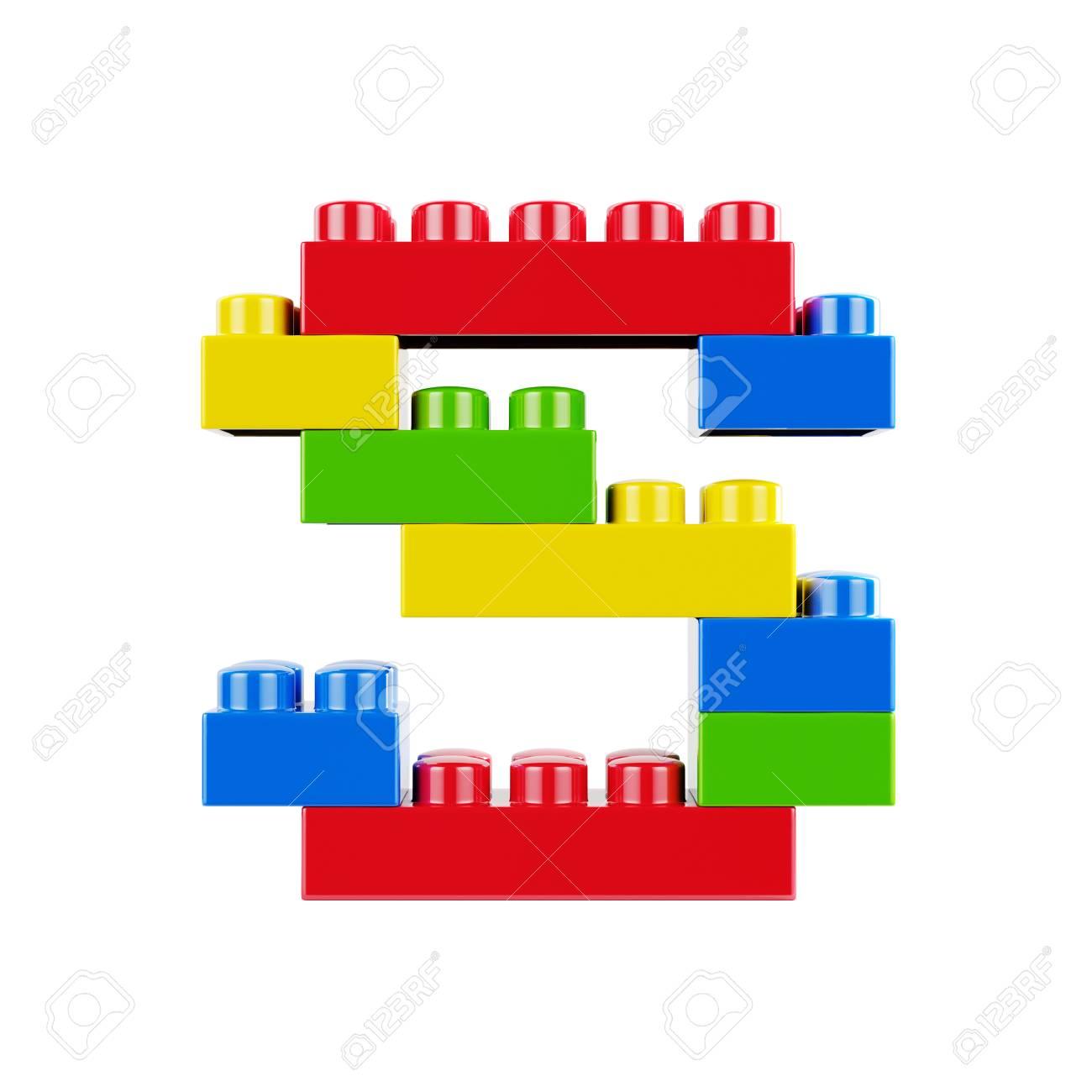 Ongebruikt Letter S Plastic Lettertype Alfabet Karakter Gemaakt Van Speelgoed KY-28