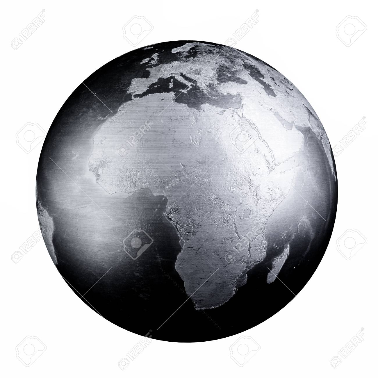 Black iron metal world map earth 3d rendering illustration isolated black iron metal world map earth 3d rendering illustration isolated on white background stock illustration gumiabroncs Images
