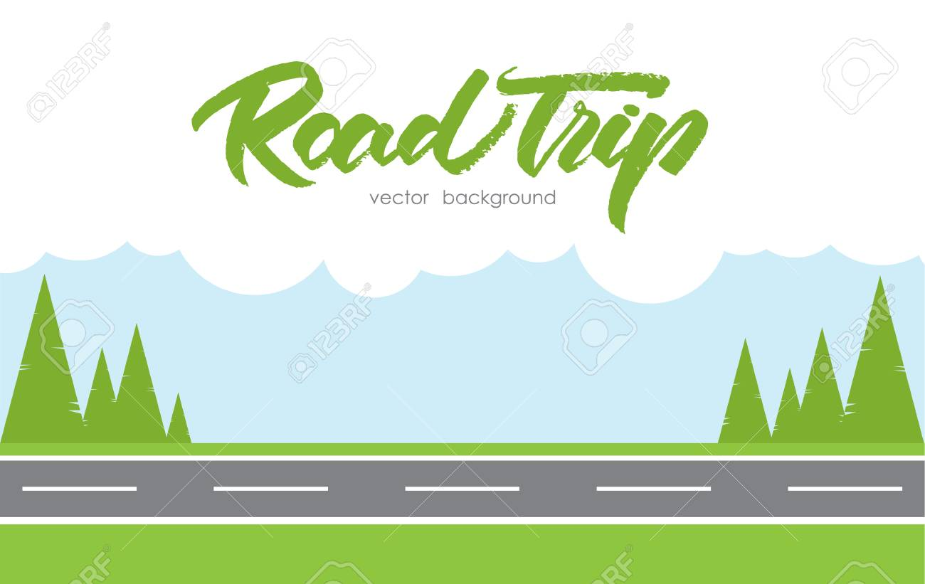 Vector Illustration Road Trip Background Royalty Free Cliparts Vectors And Stock Illustration Image 94527577