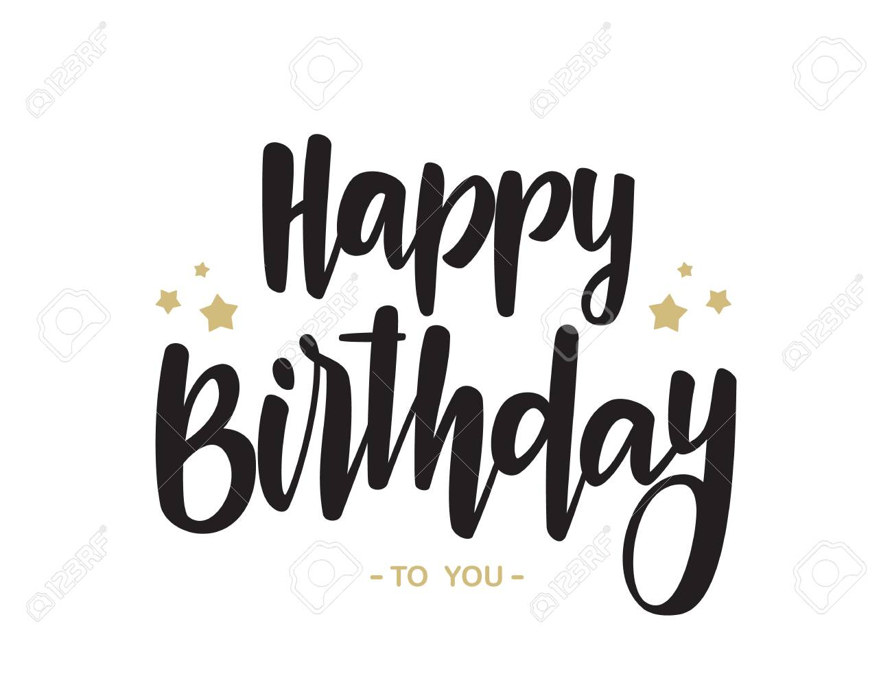 Handwritten Type Lettering Of Happy Birthday To You On White Royalty Free Cliparts Vectors And Stock Illustration Image 94689075