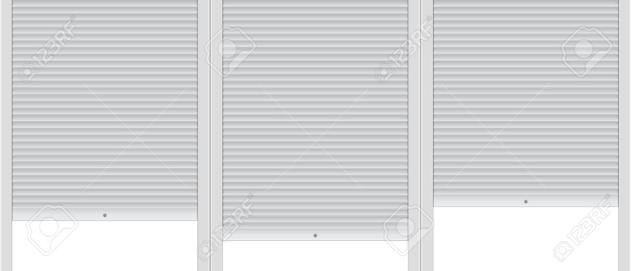 Template of background with covered roller shutters. - 94720644