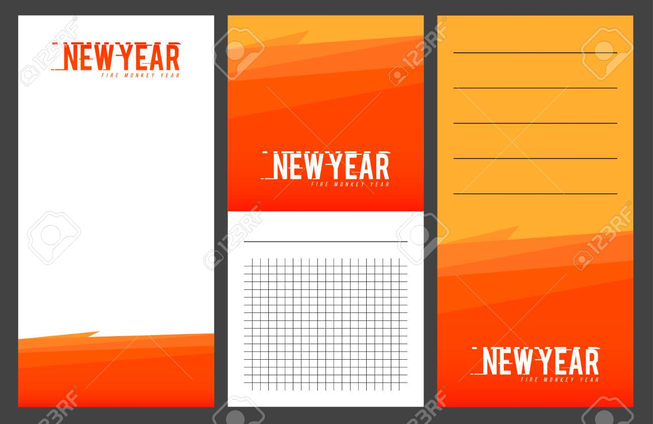Collection Of New Year 2016 Cards, Notes, Stickers, Labels, Tags ...