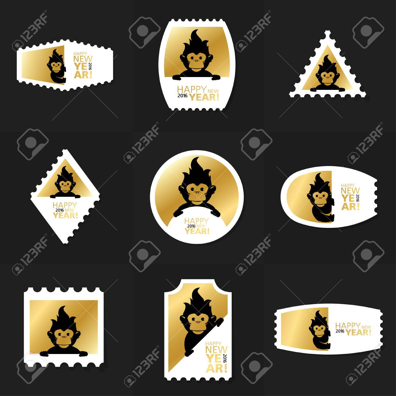 collection of chinese new year postage stamp cards notes stickers
