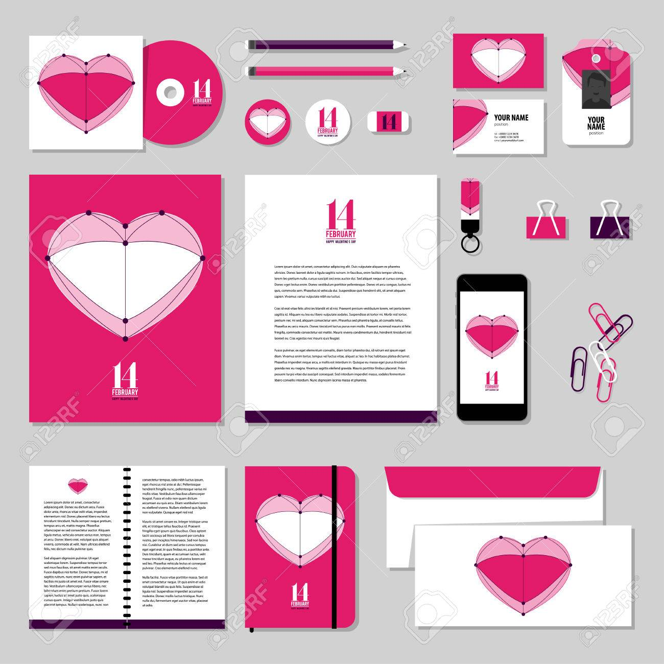 Corporate Identity Business Set Design. Vector Stationery Template ...