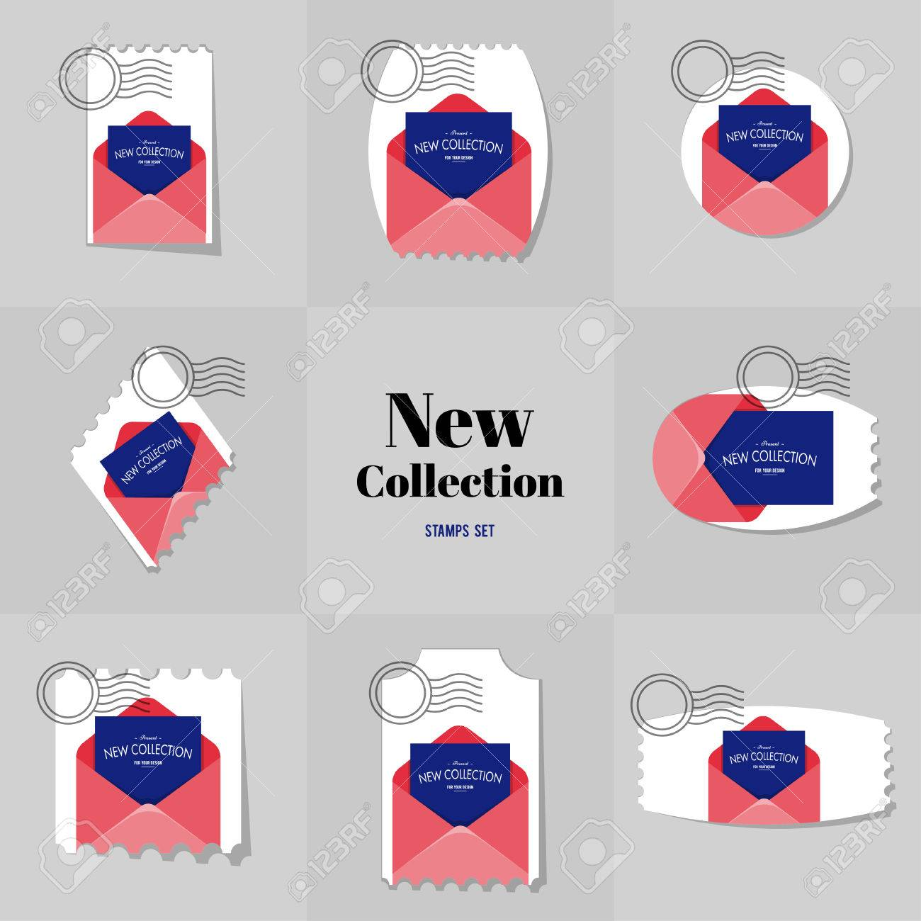 Collection New Collection Blank Envelope Postage Stamp, Cards ...