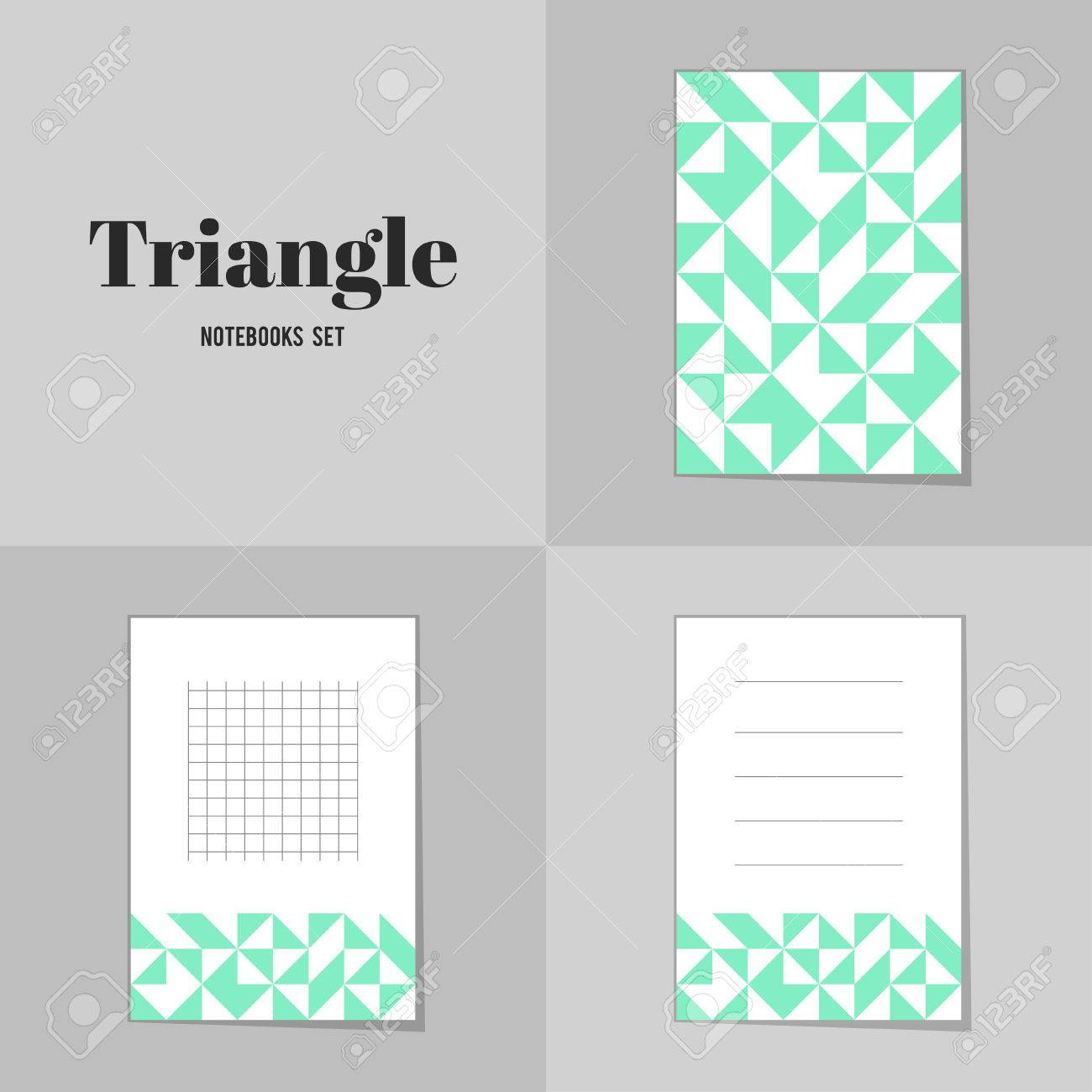 Collection Rhombus And Square Shape Notebooks, Stickers, Labels ...