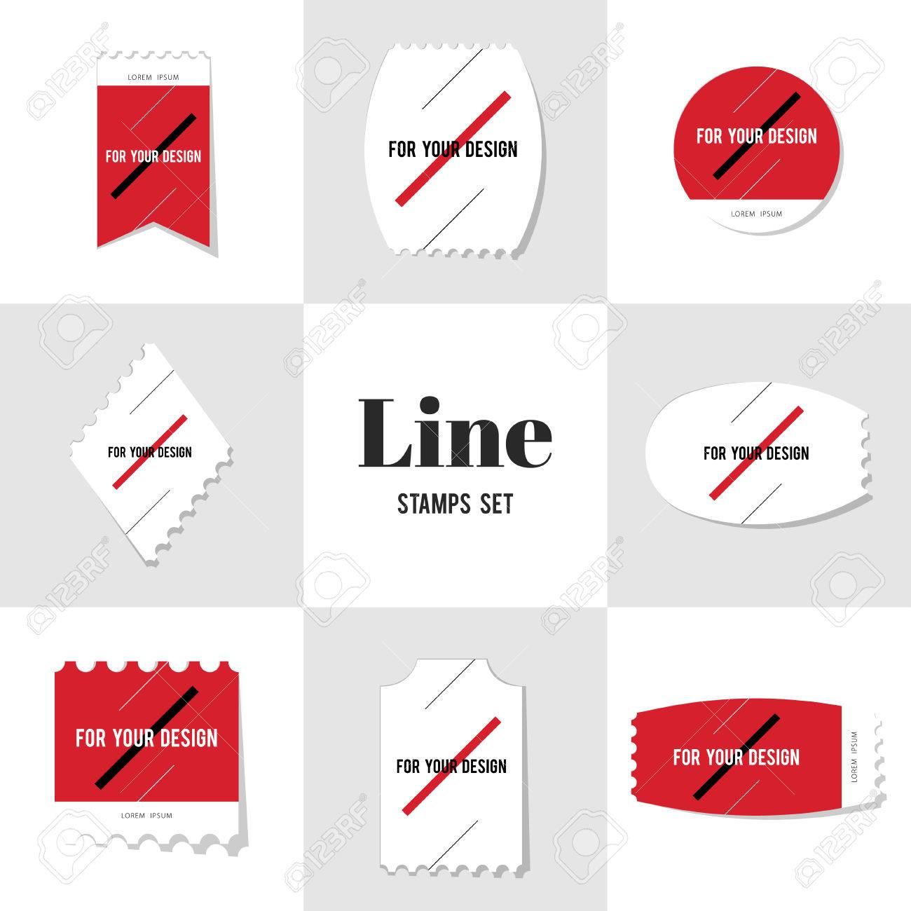 Sammlung Diagonale Linie Für Ihr Design Briefmarke, Karten, Notizen ...