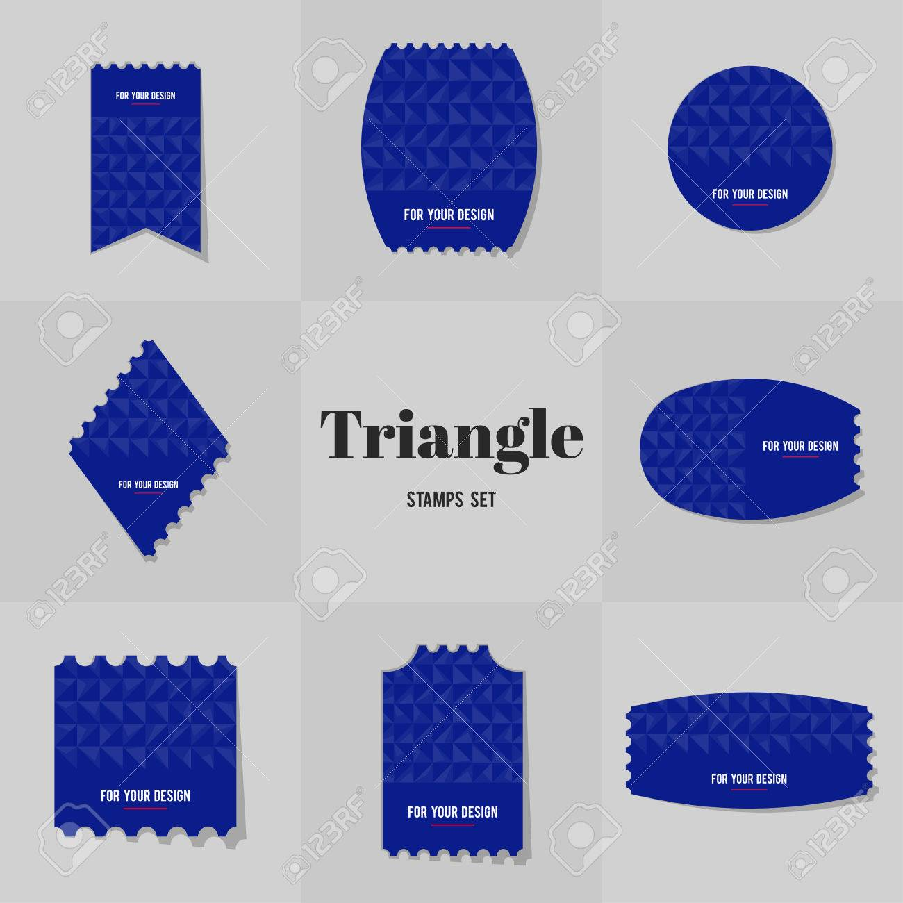 Collection Rhombus And Triangle Shape Postage Stamp, Cards, Notes ...