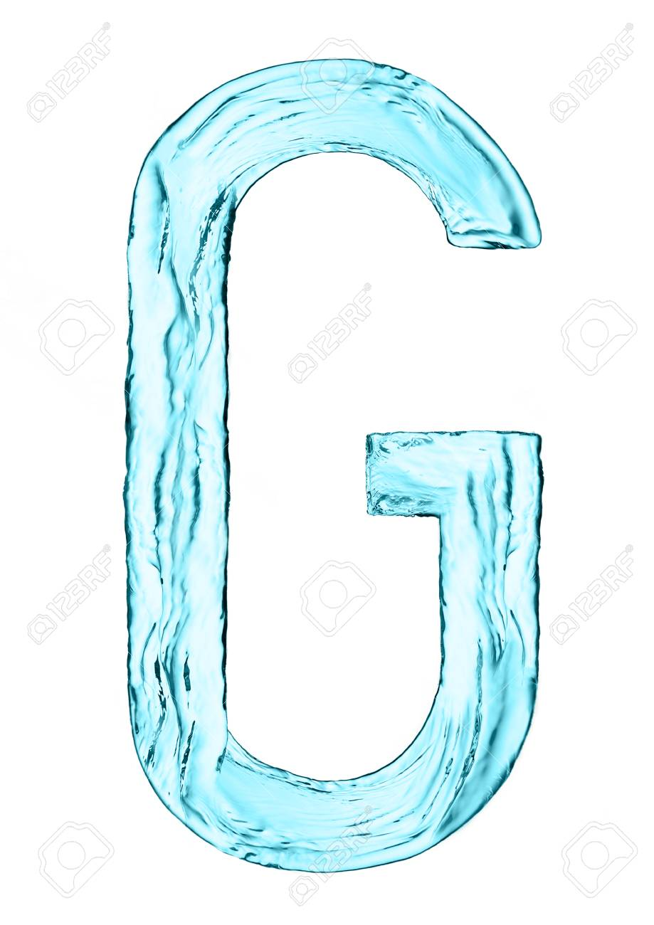 Water splash letter g with light blue color on white background stock photo water splash letter g with light blue color on white background altavistaventures Images