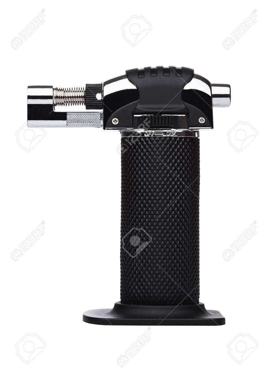 kitchen mini blow torch with black handle on white background stock photo 88307738 - Kitchen Blowtorch