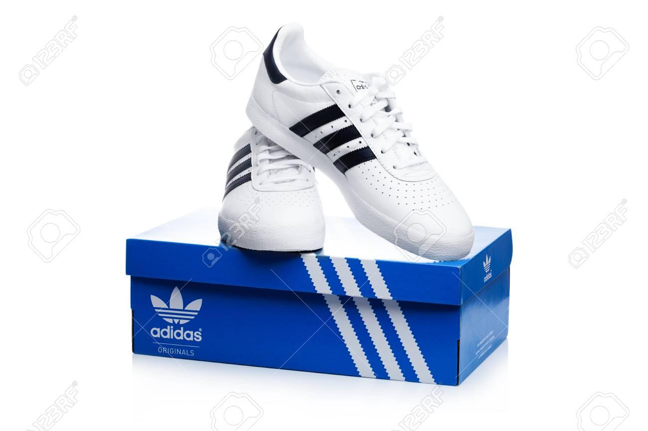 London Uk January 02 2018 Adidas Originals Shoes On Top Stock