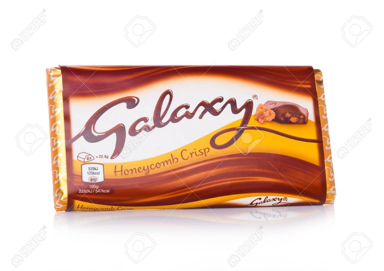 London Uk February 02 2018 An Unopened Galaxy Chocolate