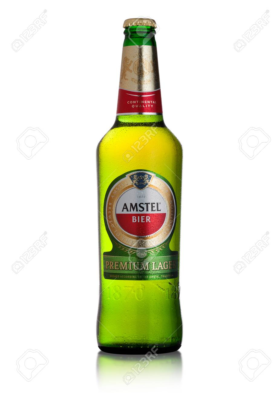 London Uk February 02 2018 Cold Bottle Of Amstel Premium Stock Photo Picture And Royalty Free Image Image 98057796