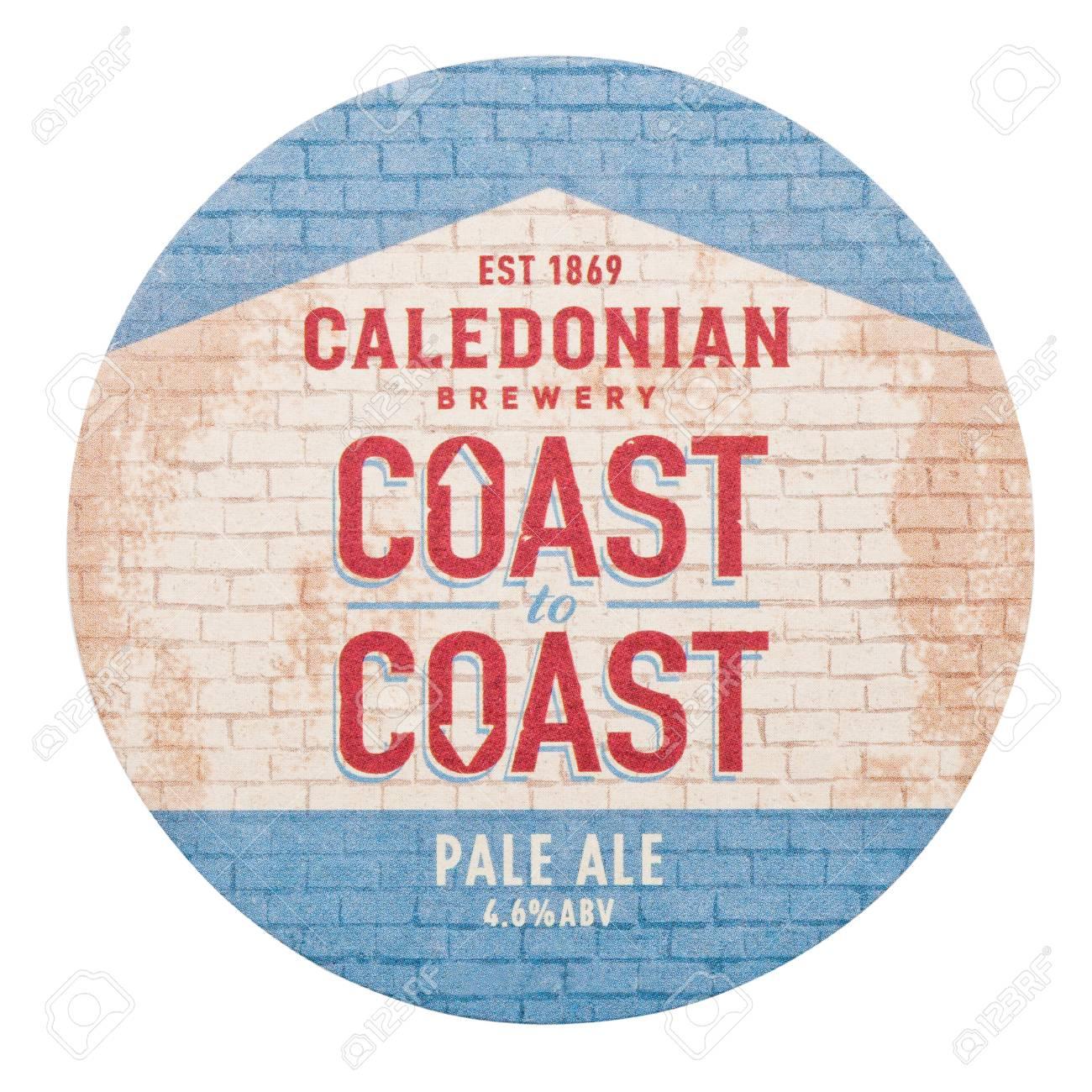 LONDON, UK - FEBRUARY 04, 2018: Caledonian brewery coast to coast