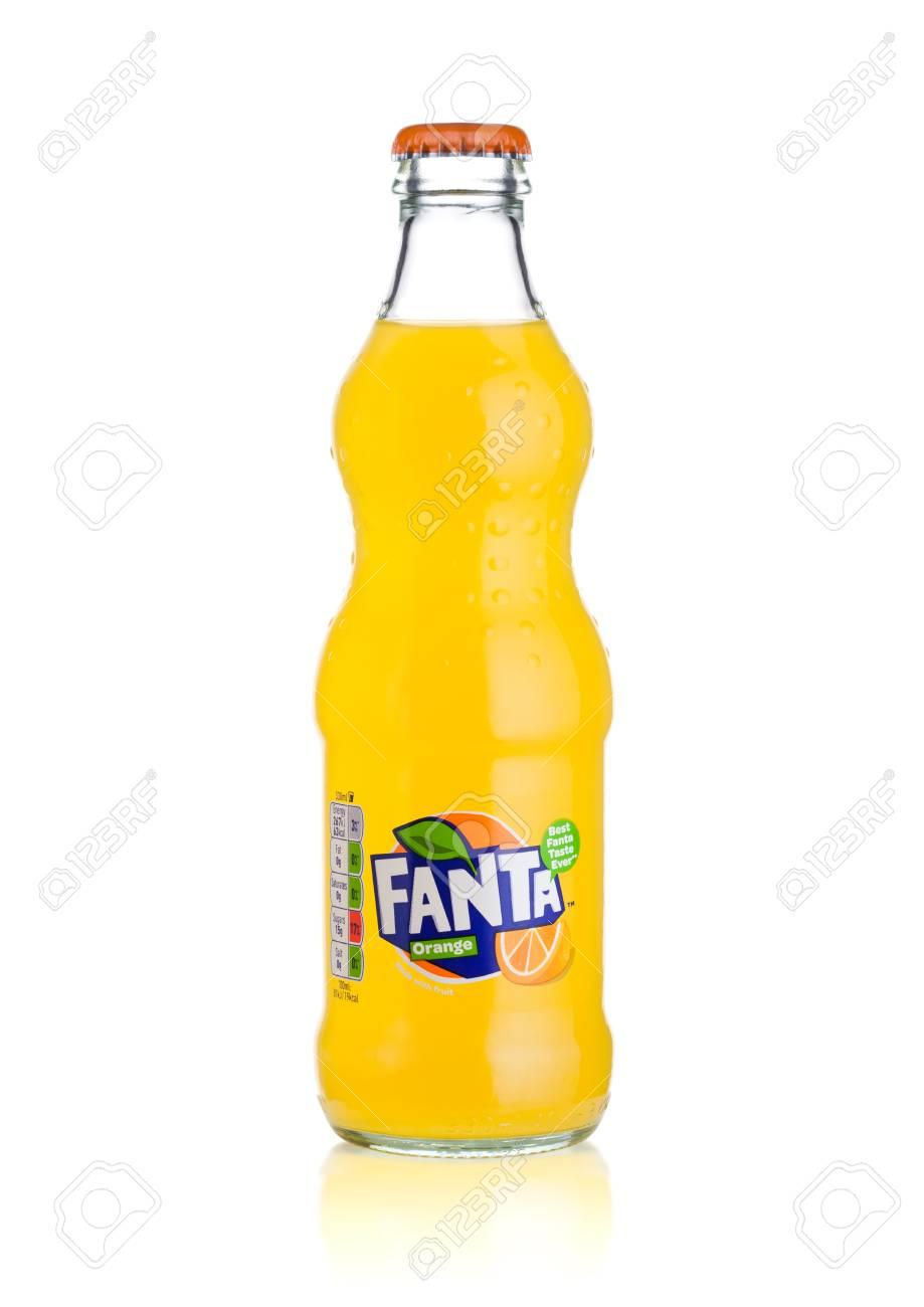 London Uk March 01 2018 Glass Bottle Of Fanta Orange Soft Stock Photo Picture And Royalty Free Image Image 98058413