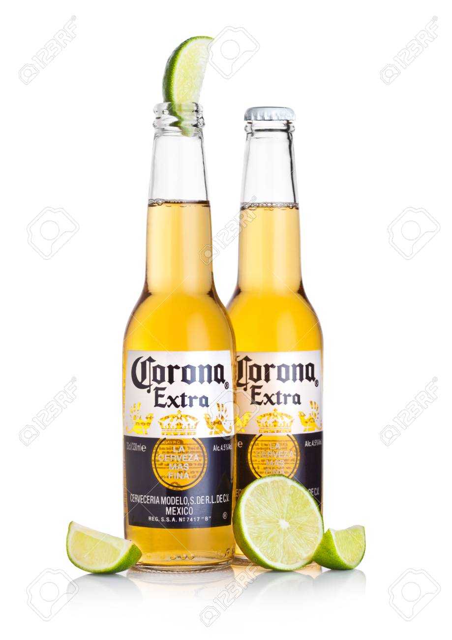 London Uk March 10 2018 Bottles Of Corona Extra Beer With Stock Photo Picture And Royalty Free Image Image 98058510