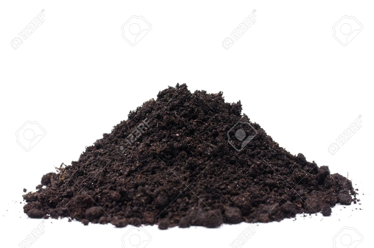 Soil heap isolated on white background Stock Photo - 6894868