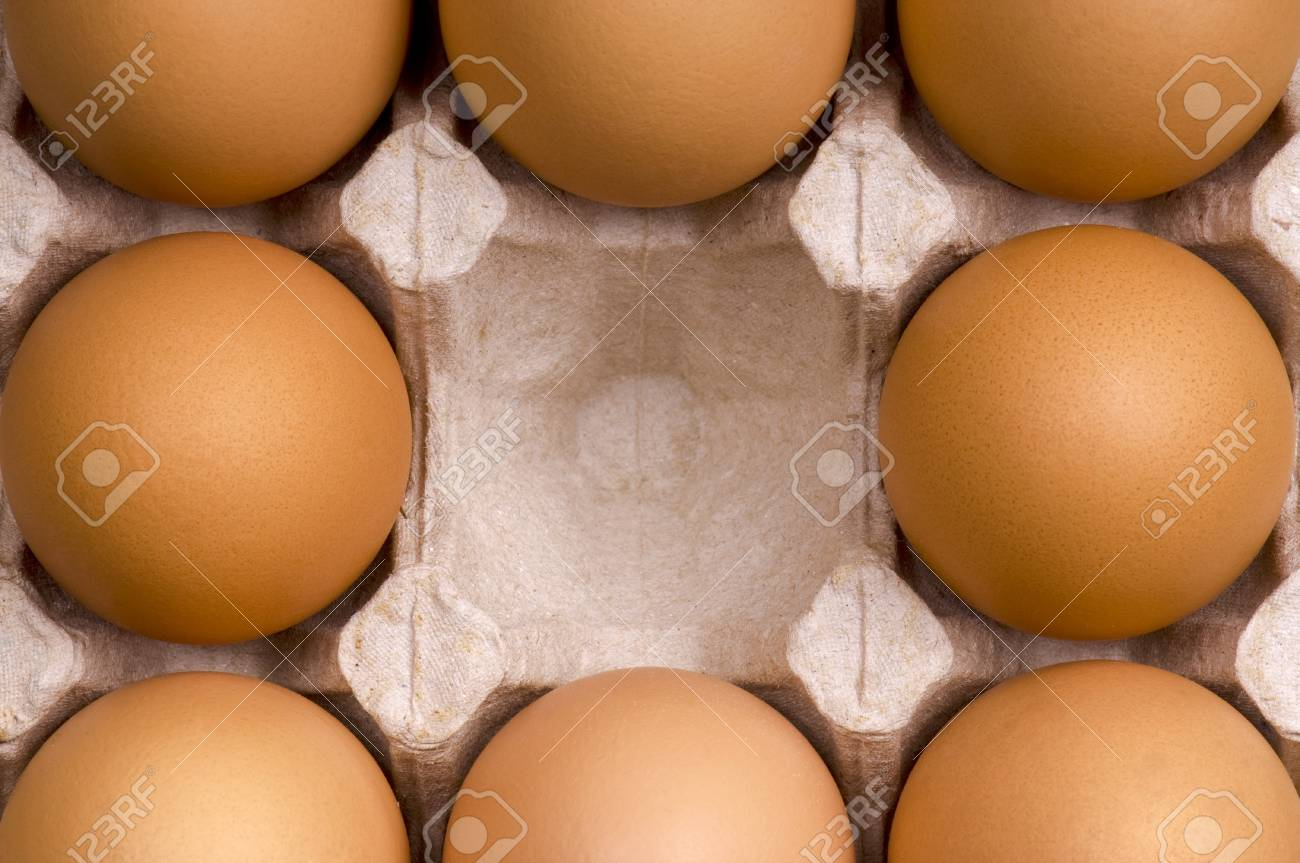 Brown eggs in packing for eggs Stock Photo - 7095385