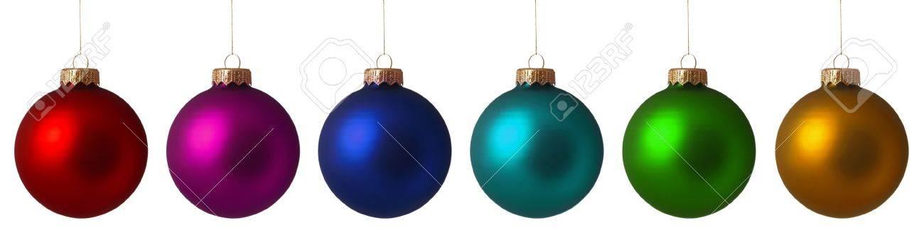 Set Christmas baubles isolated on white background Stock Photo - 8280526