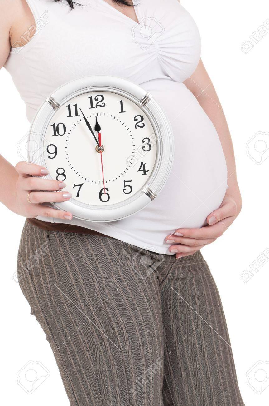 妊娠中の腹時計 の写真素材・画像素材 Image 10370331.