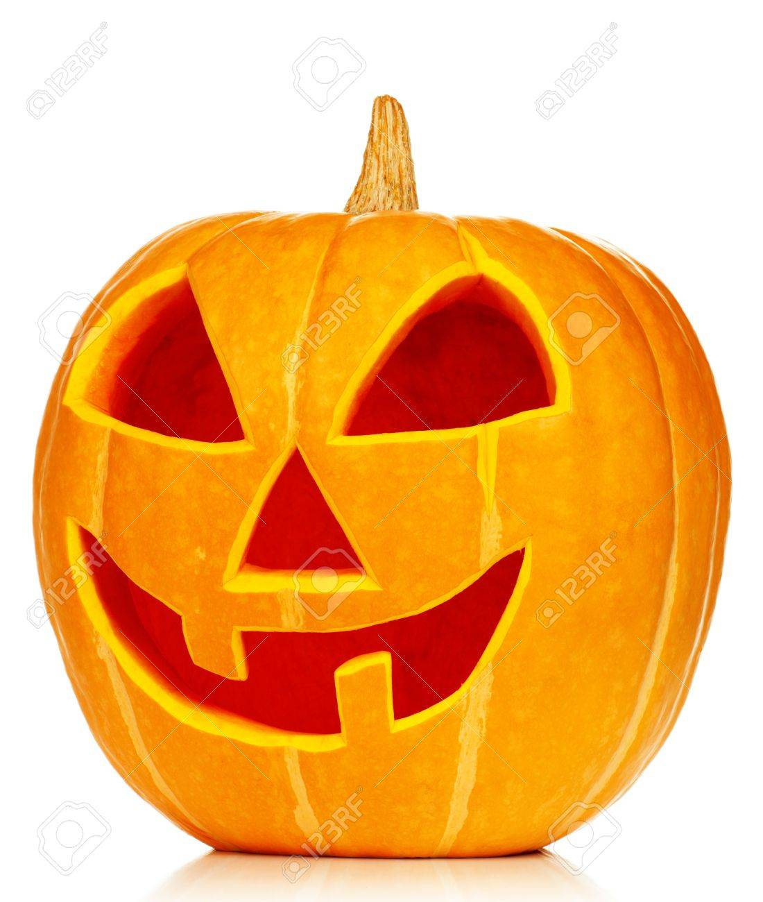 Funny Halloween pumpkin isolated on white background Stock Photo - 14764933