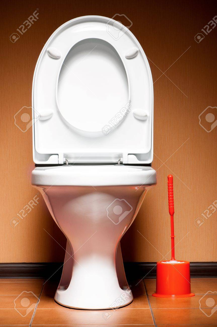 White ceramic clean new toilet in a bathroom Stock Photo - 16808379