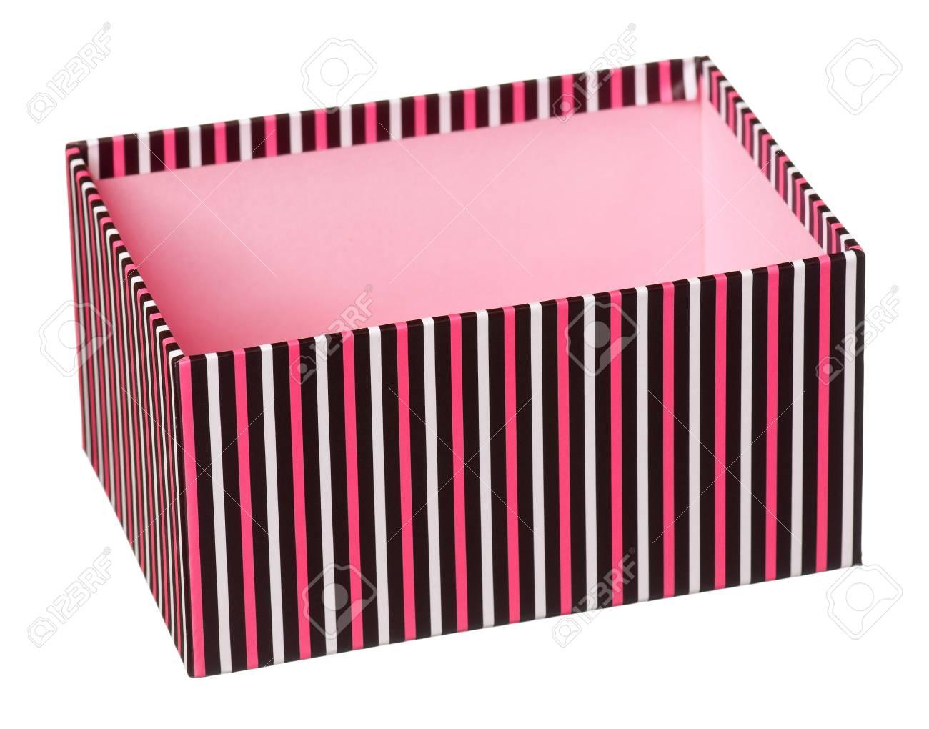 Single gift box isolated on white background Stock Photo - 17579340