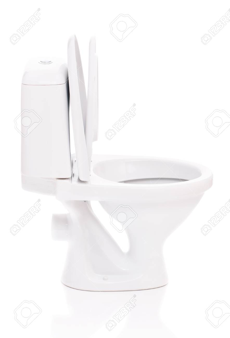New toilet bowl isolated on white background Stock Photo - 19272111