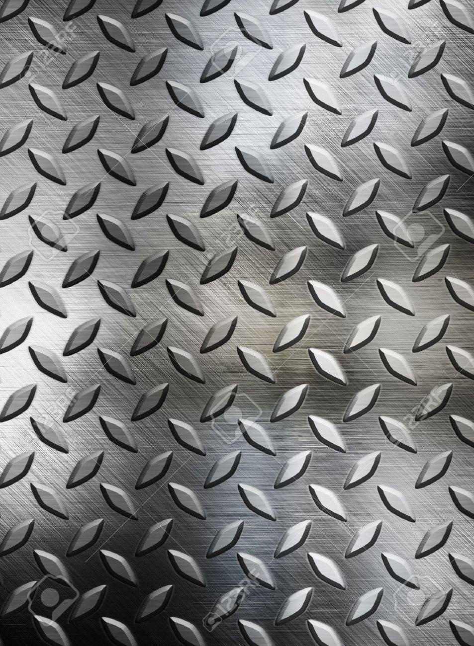 diamont plate metal background Stock Photo - 12691456