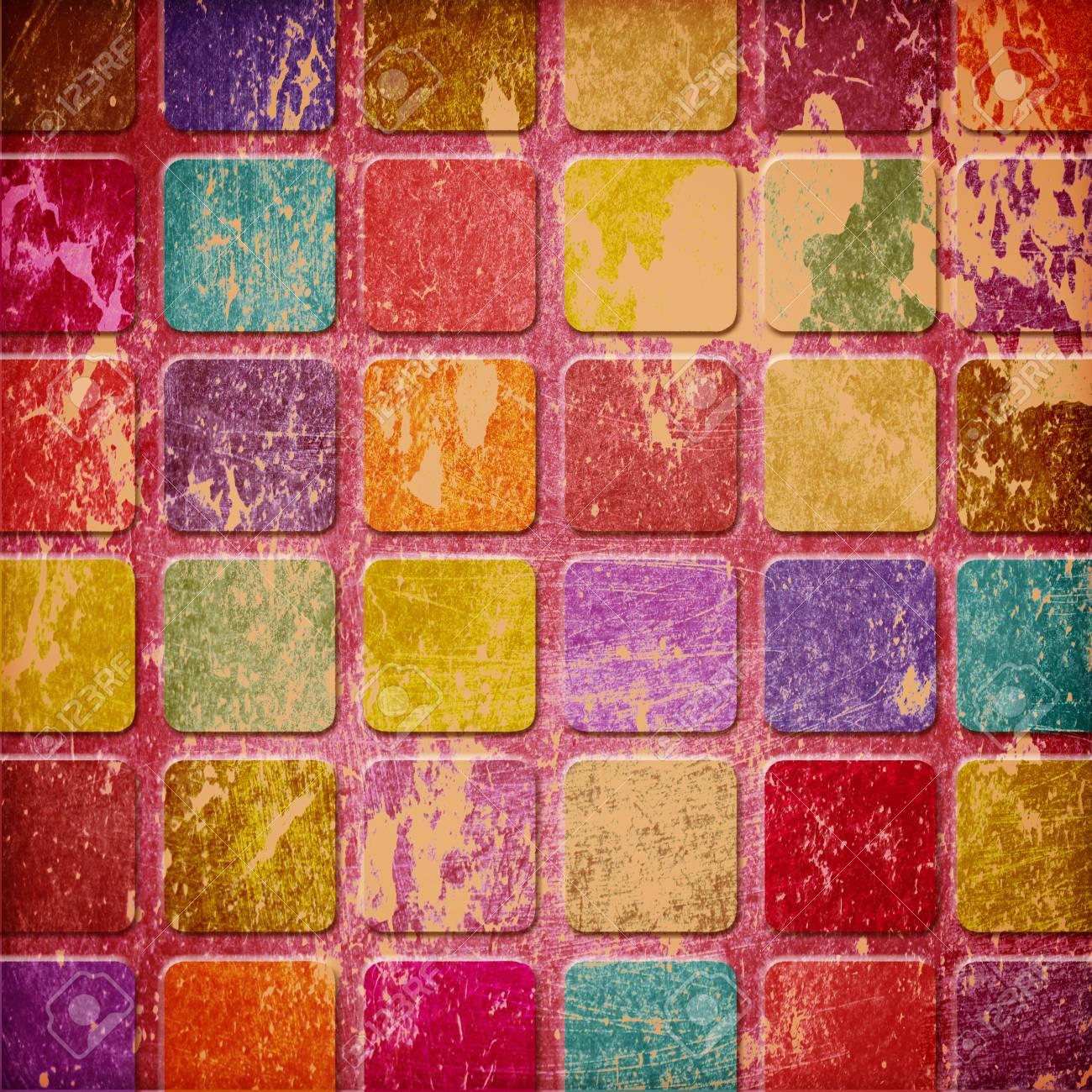 grunge colourful squares Stock Photo - 12696372