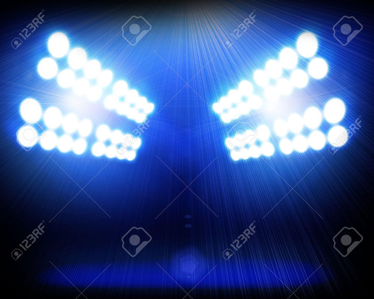 Blue spotlights background Stock Photo - 12695392