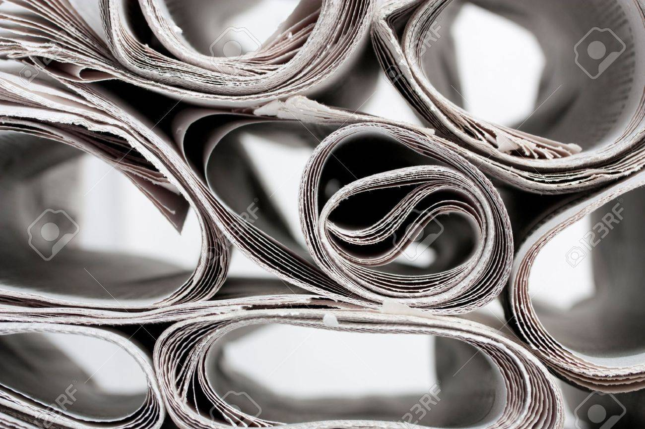 Roll of newspapers Stock Photo - 12702444