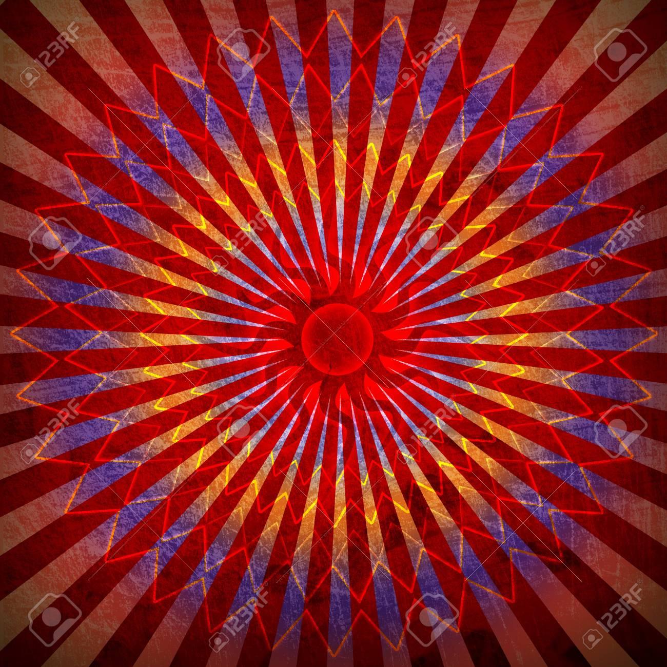 red spirutal sun background Stock Photo - 12705602