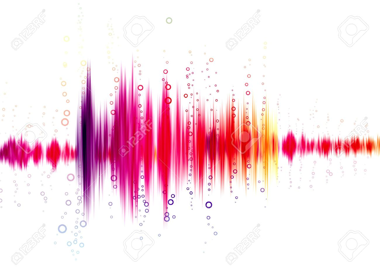 sound wave on a white background - 12706470