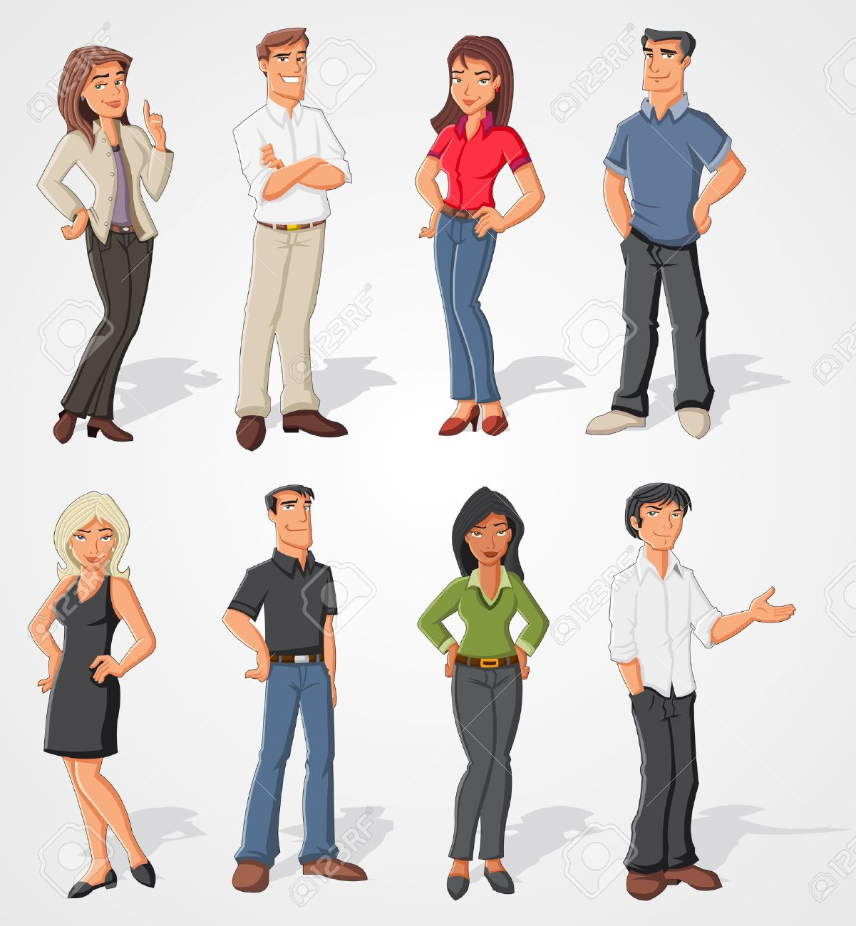 Group of cartoon business people Stock Vector - 16375230