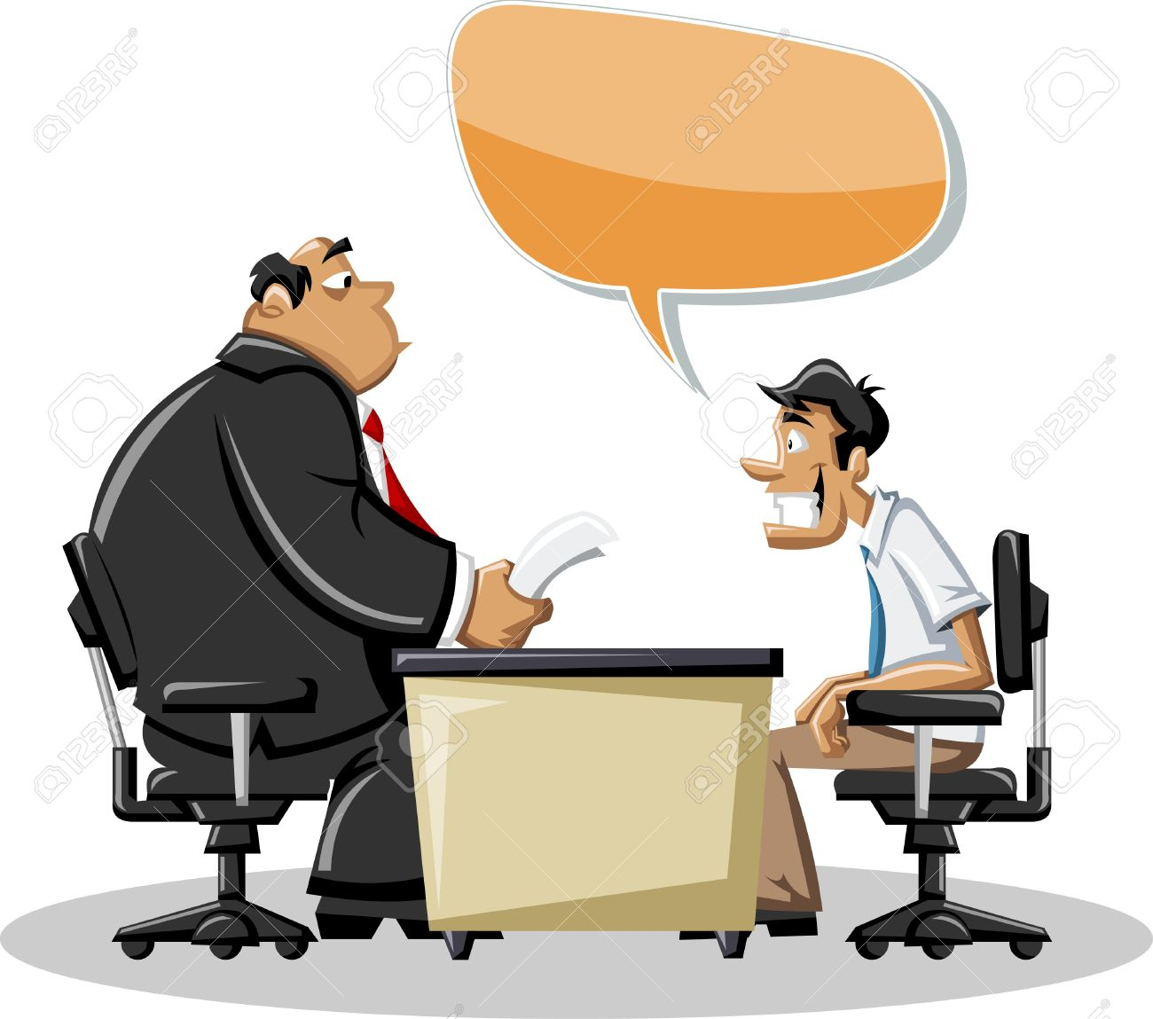 cartoon man his angry boss in office speech bubble dialog cartoon man his angry boss in office speech bubble dialog balloon stock vector 16552330