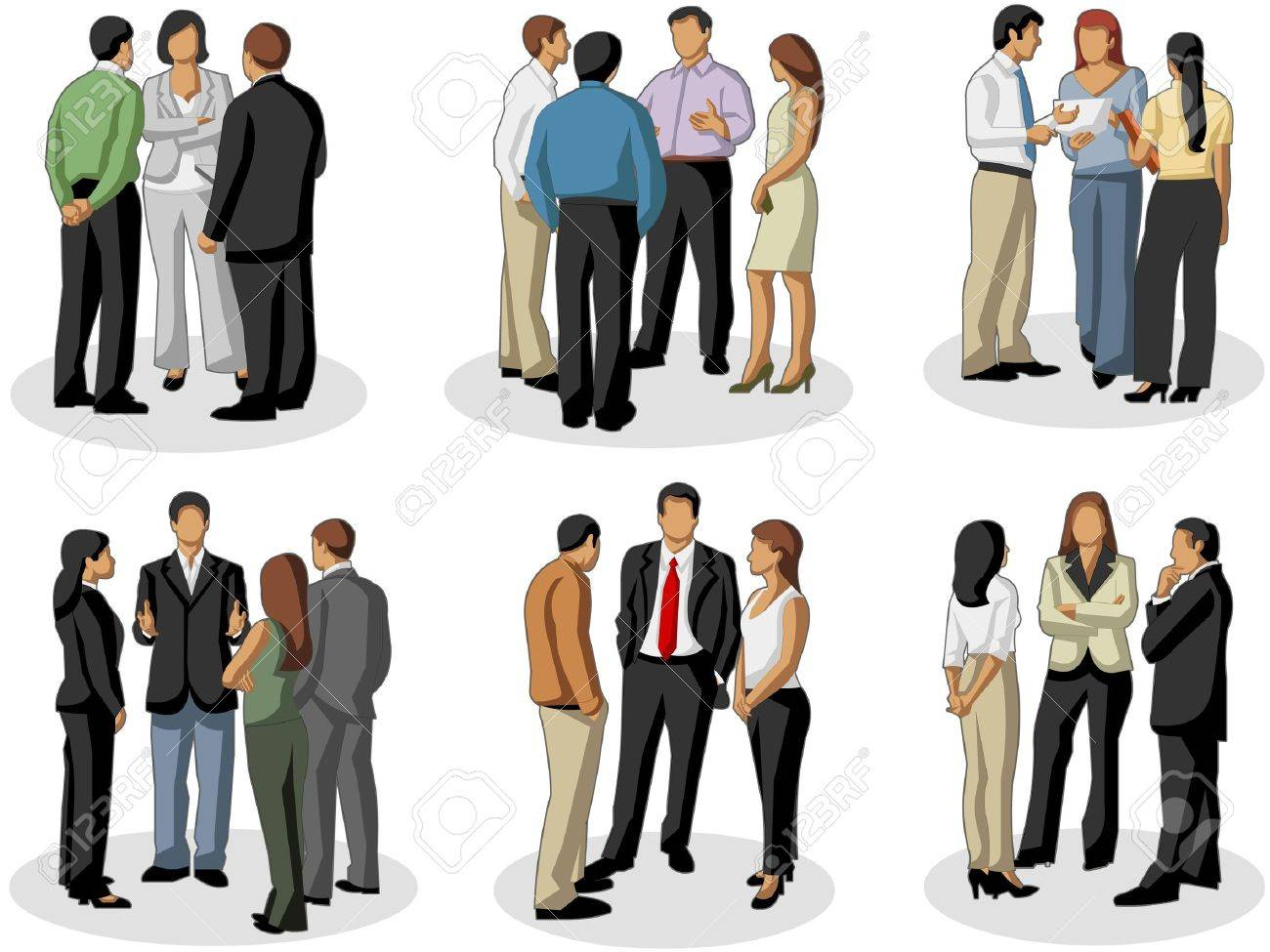 Group of business people on meeting Stock Vector - 16904453
