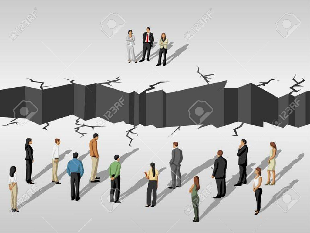 Business People Separated By Abyss Royalty Free Cliparts Vectors