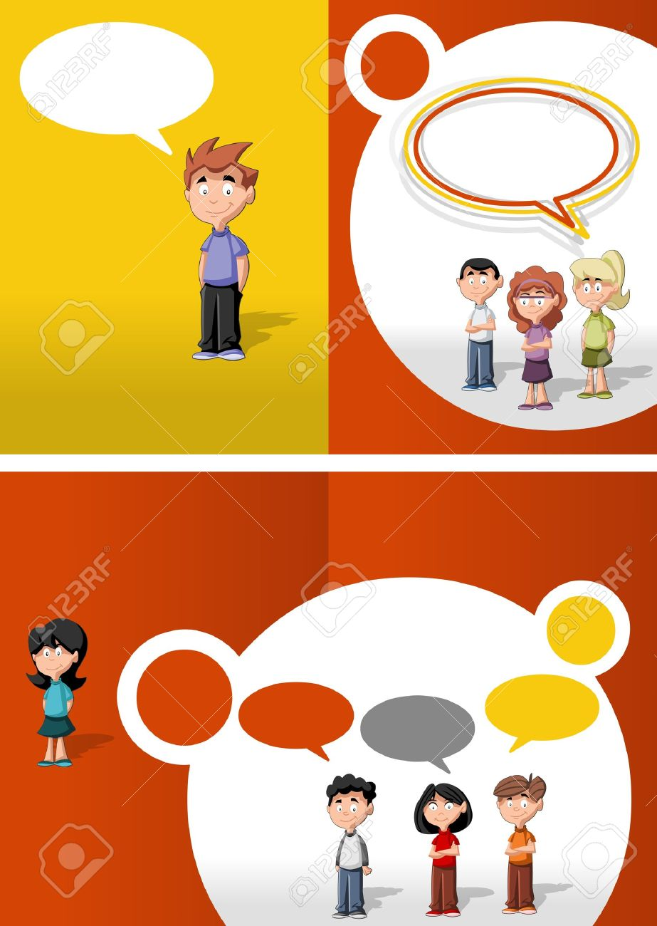 Orange and red template for advertising brochure with children students Stock Vector - 16932758