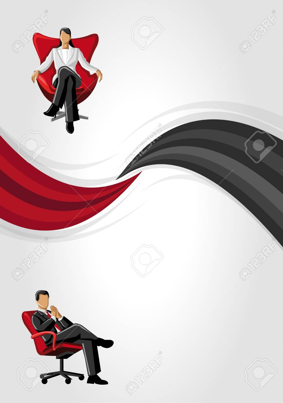 Red and black template with business people Stock Vector - 16936262