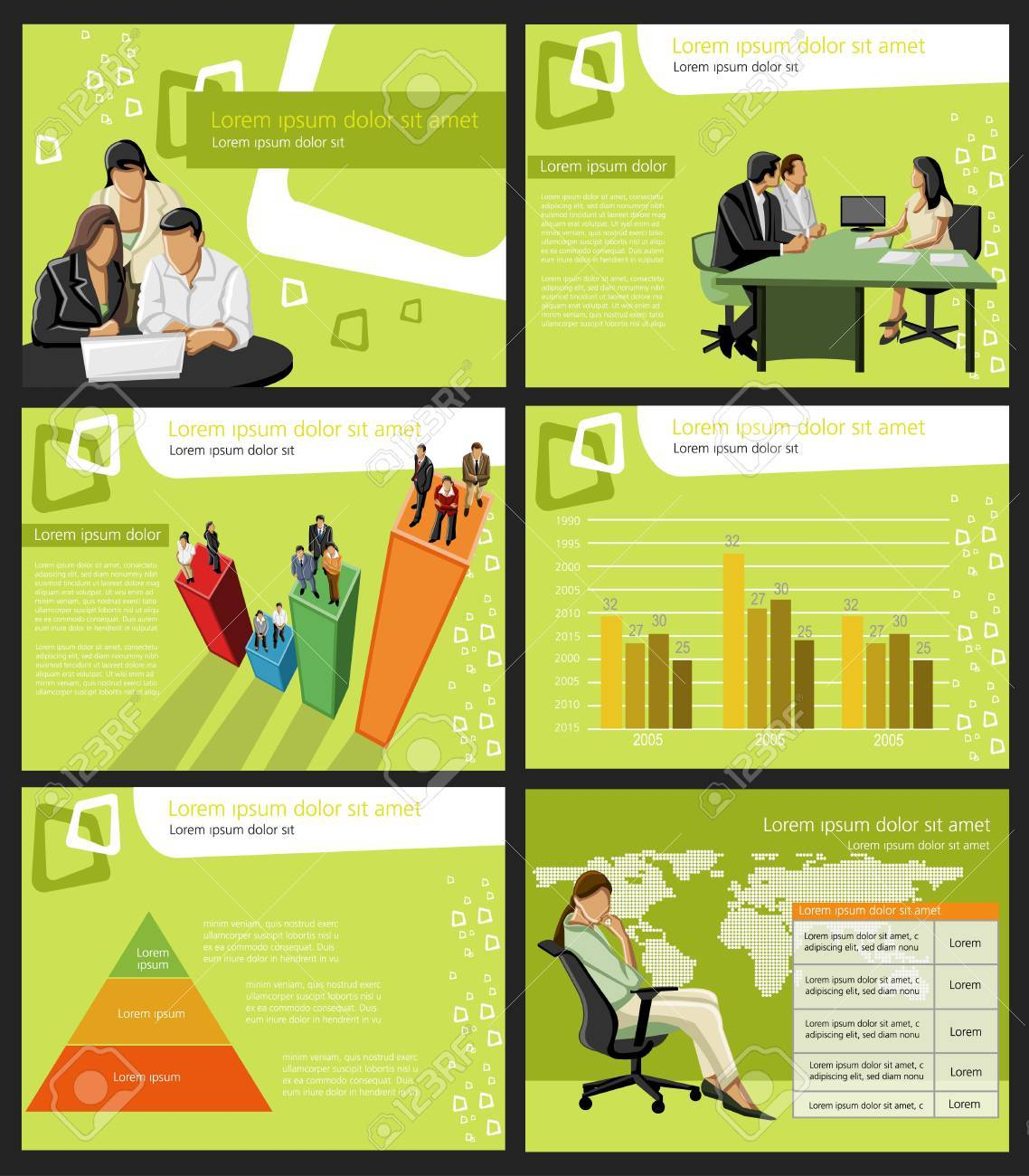 Template for advertising brochure with business people Stock Vector - 18933808