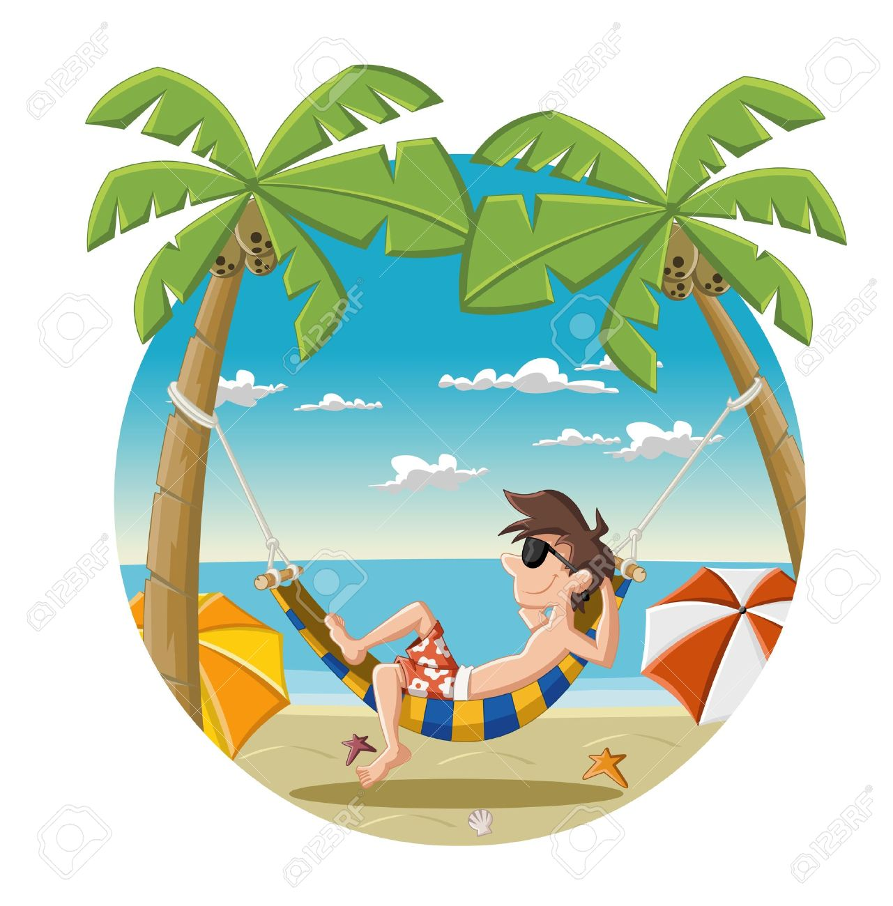 886 Hammock Beach Stock Vector Illustration And Royalty Free ...